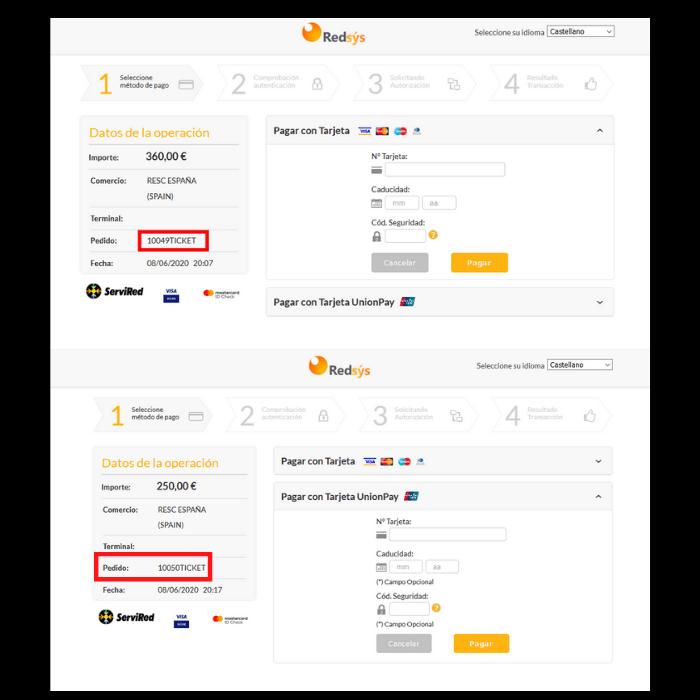 Al realizar una compra en el panel administrativo aparecerá una información sobre la entrada vendida con un código especial de la venta (fecha-cantidad de entradas-numero), que va a aparecer en tu cuenta bancaria.