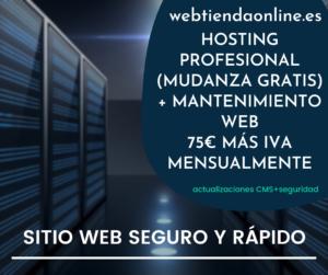 hosting y mentenimiento web