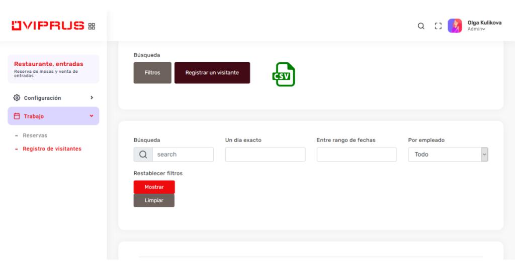 puede crear fácilmente listas de clientes por una fecha y hora específicas, así como localizar un cliente específico por sus datos personales (nombre, teléfono, correo electrónico) y subir toda la información a la tabla de Exel