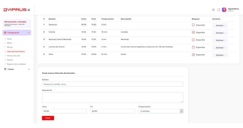Después de ingresar los datos iniciales sobre el número de mesas con referencia a un número específico de visitantes, tipos de menú, horarios de apertura del establecimiento y activación del widget en su sitio web, sus clientes pueden realizar pedidos en línea y usted registra usuarios dentro del establecimiento